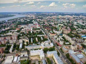 Tomsk Şehri kuşbakışı