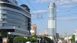 Ekaterinburg Şehri yüksek bina